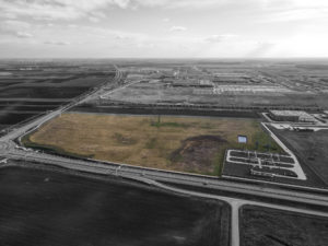 Kecskeméti fejlesztési terület drónfelvétel